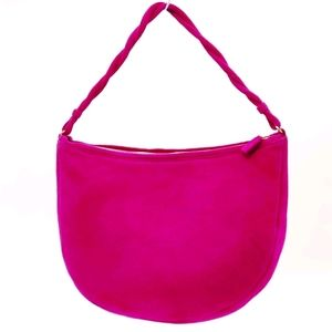 Gianni Versace Vintage Fuchsia Suede Handbag